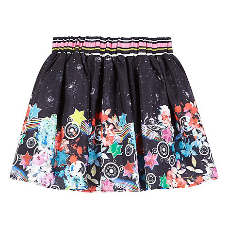 preen-edition - Girls+ navy galactic print skirt