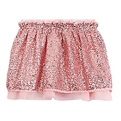 Preen/EDITION - Girls' pink sequin embellished skirt
