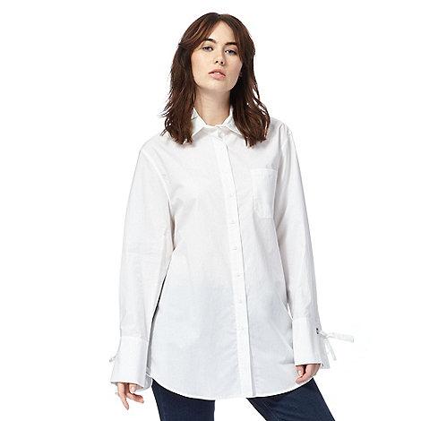 todd-lynn-edition - White trapeze shaped shirt