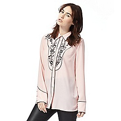 Todd Lynn/EDITION - Pink embroidered western blouse