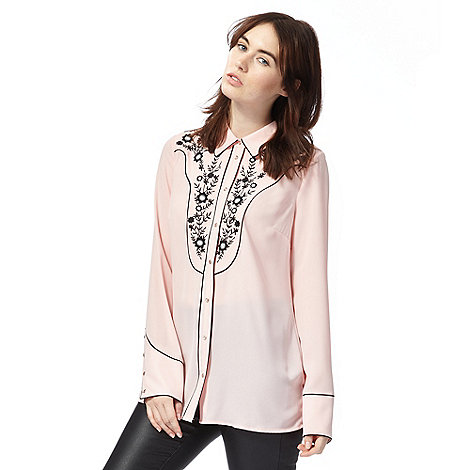 todd-lynn-edition - Pink embroidered western blouse