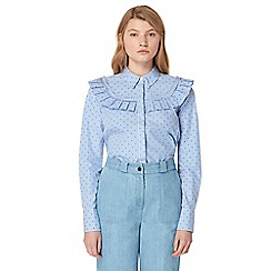 Studio by Preen - Blue striped frilled shirt