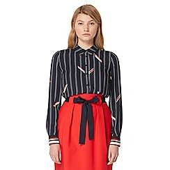 Studio by Preen - Navy striped print shirt