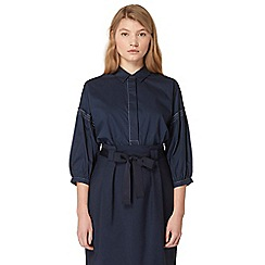 Studio by Preen - Navy volume sleeve shirt
