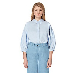 Studio by Preen - Blue volume sleeve shirt
