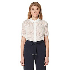 Studio by Preen - White lace scalloped shirt