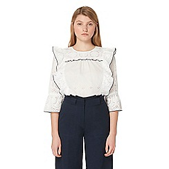 Studio by Preen - Ivory embroidered blouse