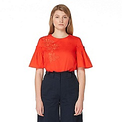 Studio by Preen - Red floral embroidered top
