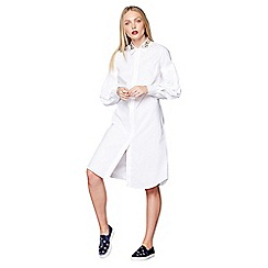 Studio by Preen - Ivory embroidered shirt dress
