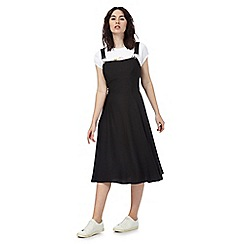 Todd Lynn/EDITION - Black midi pinafore dress