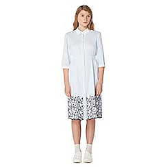 Studio by Preen - Blue stripe print knee length shirt dress