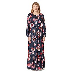 Studio by Preen - Navy floral print frilled maxi dress