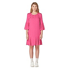 Studio by Preen - Pink jacquard bell sleeve dress