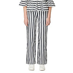Studio by Preen - Blue striped wide leg trousers