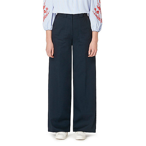 Studio by Preen - Navy wide leg trousers