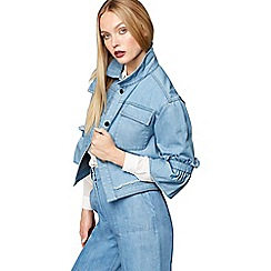Studio by Preen - Blue frilled denim jacket