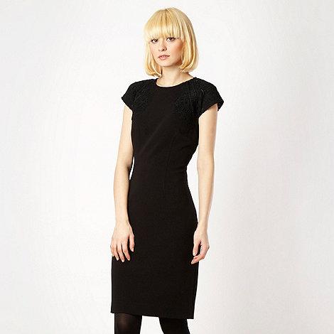 Marios Schwab/EDITION - Black lace shouldered evening dress