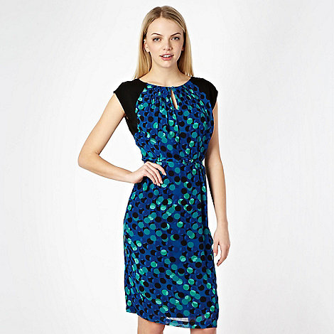 Jonathan Saunders/EDITION - Designer blue spotted printed day dress