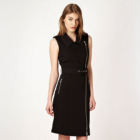 Preen/EDITION - Designer black belted biker style dress