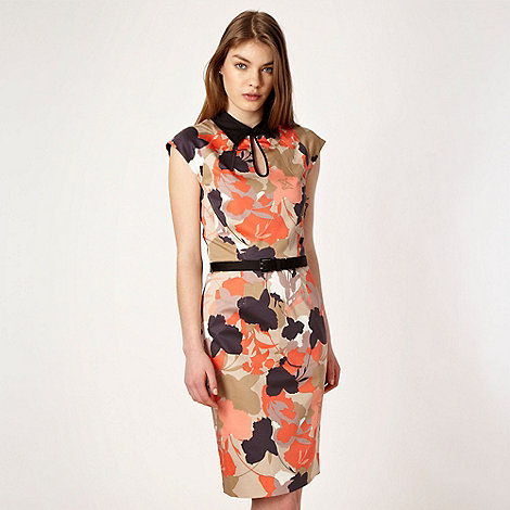 Jonathan Saunders/EDITION - Designer black floral collared shift dress