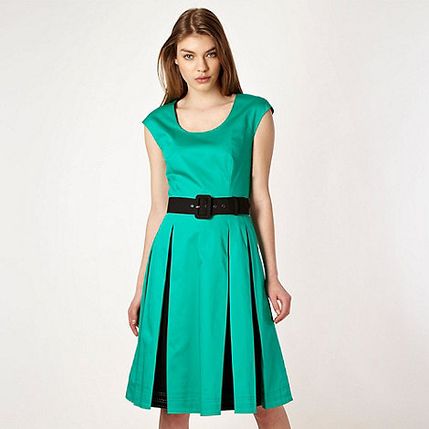Jonathan Saunders/EDITION - Designer green fit and flare pleated dress