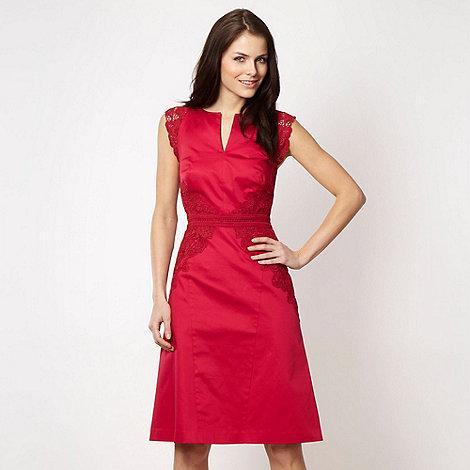 Marios Schwab/EDITION - Designer pink lace panelled dress