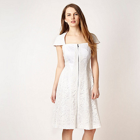 Marios Schwab/EDITION - White lace panel dress
