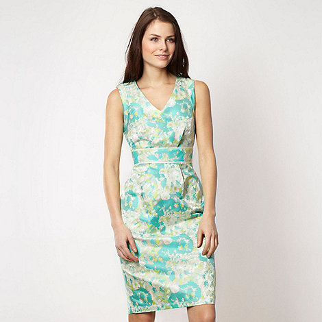 Roksanda Ilincic/EDITION - Designer light green +Fluro Floral+ dress