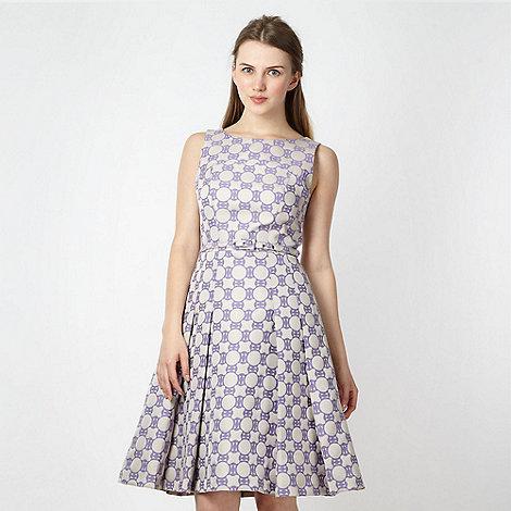 Jonathan Saunders/EDITION - Designer lilac geometric jacquard dress
