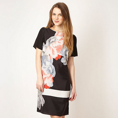 Preen/EDITION - Designer black placement flower tunic dress