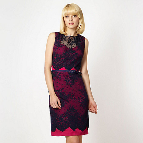 Preen/EDITION - Designer navy contrasting lace dress