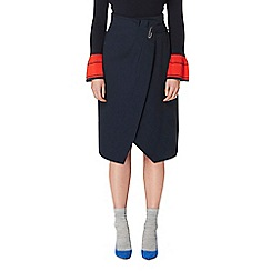Studio by Preen - Navy wrap skirt
