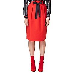 Studio by Preen - Red high waisted midi skirt