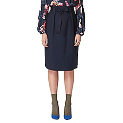 Studio by Preen - Navy high waisted midi skirt