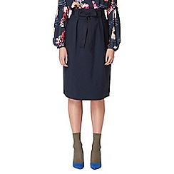 Studio by Preen - Navy high waisted midi skirt