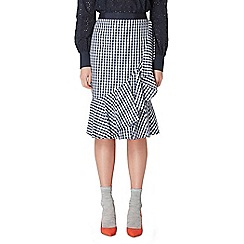 Studio by Preen - Navy gingham print frill skirt