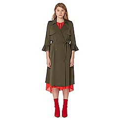 Studio by Preen - Khaki flute sleeve trench coat