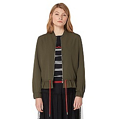 Studio by Preen - Khaki frilled bomber jacket