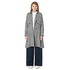 Studio by Preen - Navy gingham print trench coat