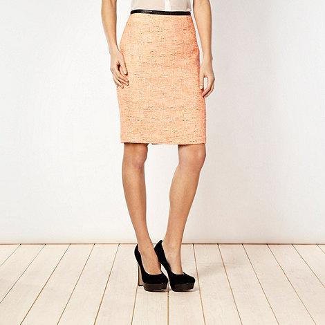 Jonathan Saunders/EDITION - Designer orange fluorescent tweed skirt