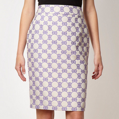 jonathan-saunders-edition - Designer lilac geometric jacquard skirt