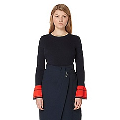 Studio by Preen - Navy bell sleeve jumper
