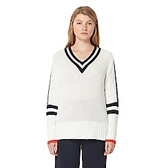 Studio by Preen - Ivory striped jumper