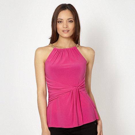 Star by Julien Macdonald - Designer pink chain halter top