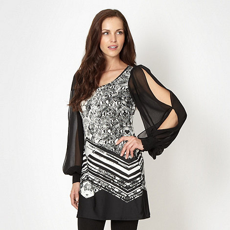 Star by Julien Macdonald - Designer black snake printed tunic top