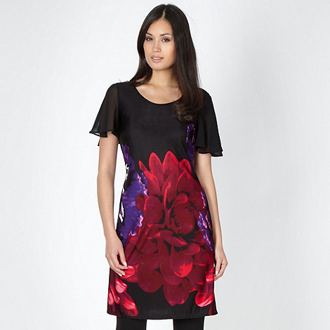 Star by Julien Macdonald - Designer black floral tunic top