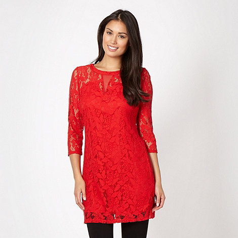Star by Julien Macdonald - Designer red lace tunic