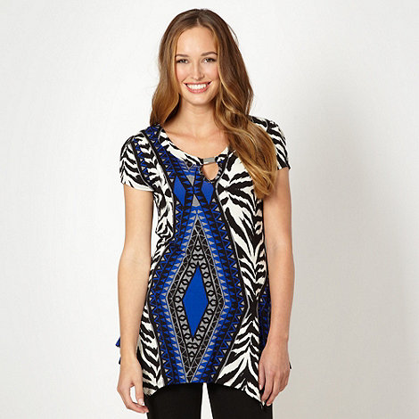 Star by Julien Macdonald - Designer blue zebra aztec tunic
