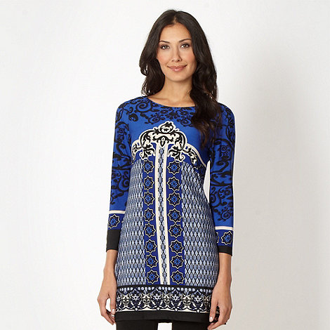 Star by Julien Macdonald - Designer royal blue border tunic top