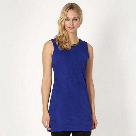 Star by Julien Macdonald - Designer royal blue textured tunic